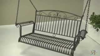 International Caravan Tropico 4-ft. Wrought Iron Porch Swing - Product Review Video