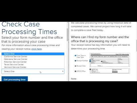 Quick Tutorial - Checking Case Case Processing Times With USCIS