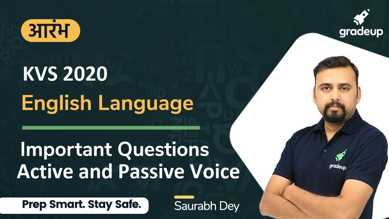 KVS 2020 | English Language | Active and Passive Voice | Saurabh Dey | Gradeup