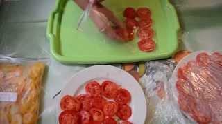 Как заморозить помидоры сохранив их внешний вид и форму\How to freeze tomatoes