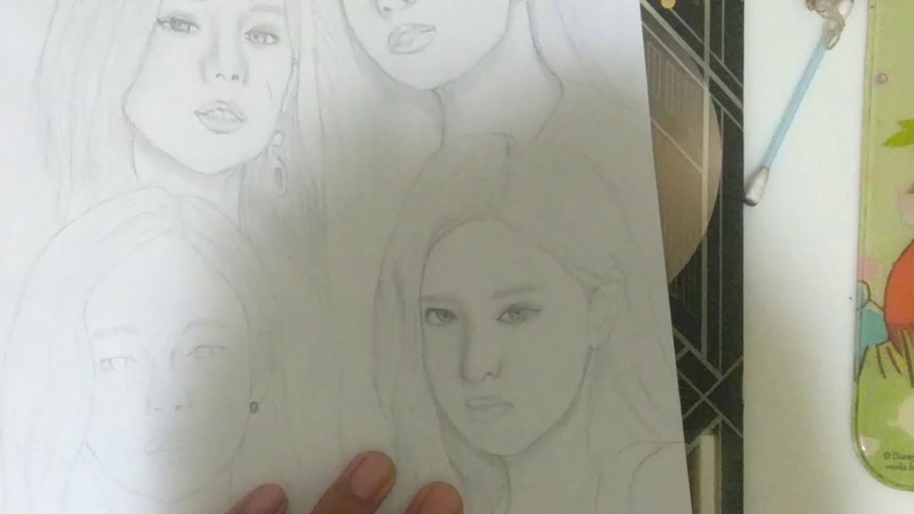 How to เด็กอายุ 14 วาดรูป black pink ทั้งวง (คลิปสุดท้ายของปี 2019)