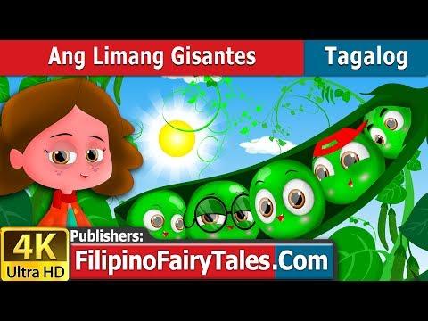 Ang Limang Gisantes - Kwentong Pambata - Pambatang Kwento - 4K UHD - Filipino Fairy Tales