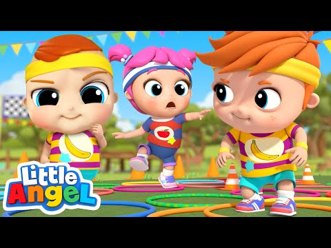 Who's Gonna Win?   A Family Song   Apples & Bananas + More Little Angel Kids Songs