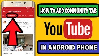 Video HOW TO ADD COMMUNITY TAB ON YOUTUBE CHANNEL IN ANDROID PHONE download MP3, 3GP, MP4, WEBM, AVI, FLV September 2018