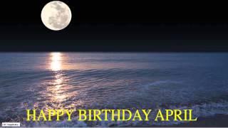 April  Moon La Luna - Happy Birthday