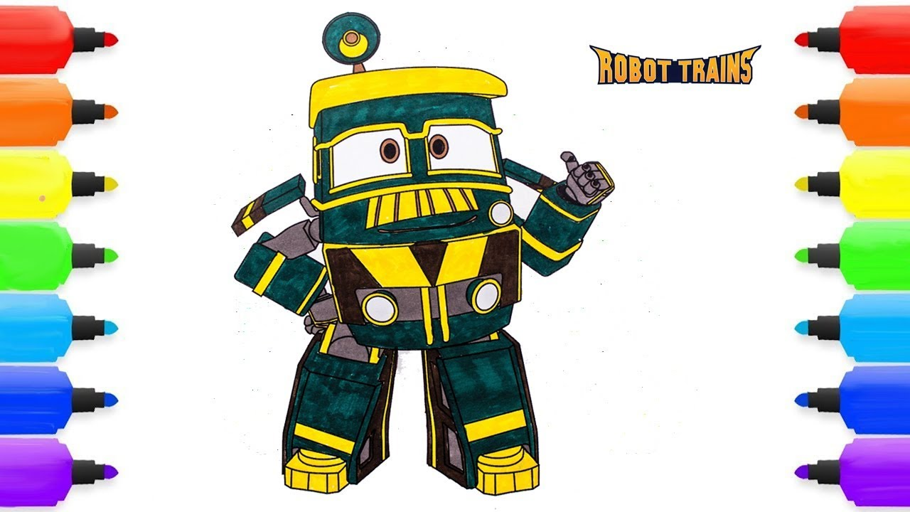 ROBOT TRAIN Coloring Pages ROBOT