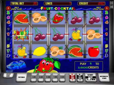 Игровой автомат Fruit Cocktail (Клубнички, Фруктовый