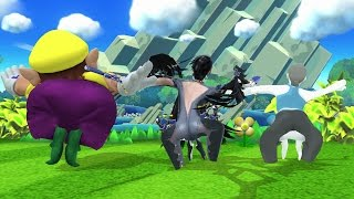 Every Character Does Wario's Side Taunt! - Super Smash Bros. for Wii U Mods