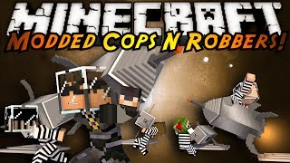 Minecraft Mini-Game : MODDED COPS N ROBBERS! GALACTICRAFT!