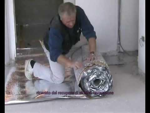 Posa in opera isolamento acustico per pavimenti LINEA CIRFONIC - YouTube