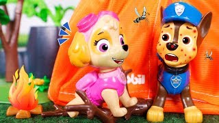 Paw PatrollToys 🐾 Chase gets a lot of mosquito bites 😆⛺