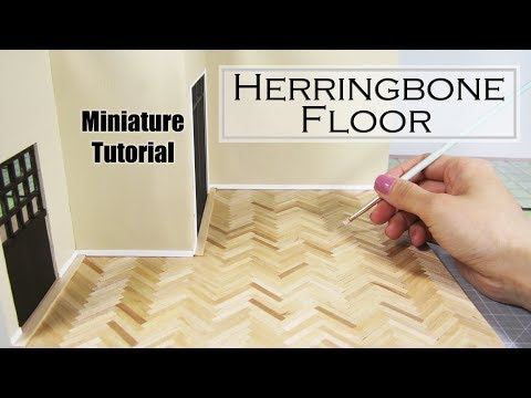 DIY Miniature - Hardwood Floors (Herringbone)