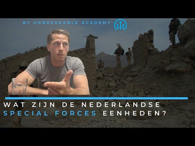 Wat zijn de Nederlandse Special Forces eenheden