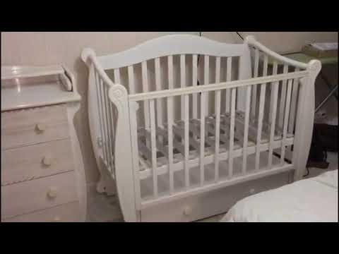 Детская кроватка Валерия С-707, комод С-257.