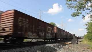 Norfolk Southern Mixed Freight Train: Reading Pennsylvania