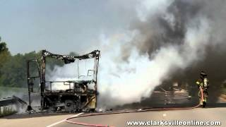 RV Fire on International BLVD in Clarksville, TN on April 12th, 2012