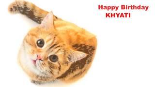 Khyati   Cats Gatos - Happy Birthday