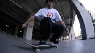 AXION Japan team rider Tetsuya Yasuta shows how to frontside kickfl...