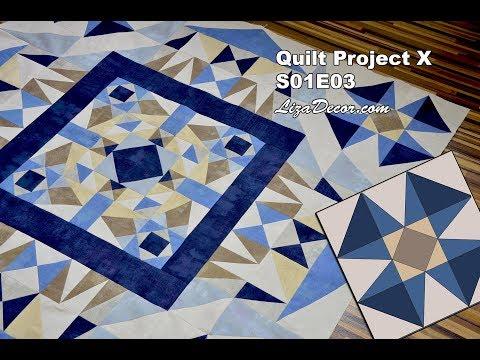Patchwork Quilt Project - Tutorial S01E03 - LizaDecor.com