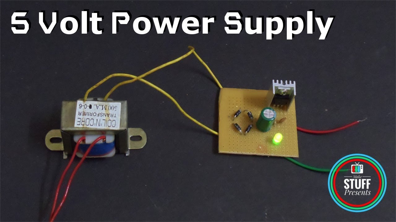 Transformer Based 5 Volt Power Supply For Arduino Diy Youtube Circuit Batterycharger Powersupplycircuit Diagram
