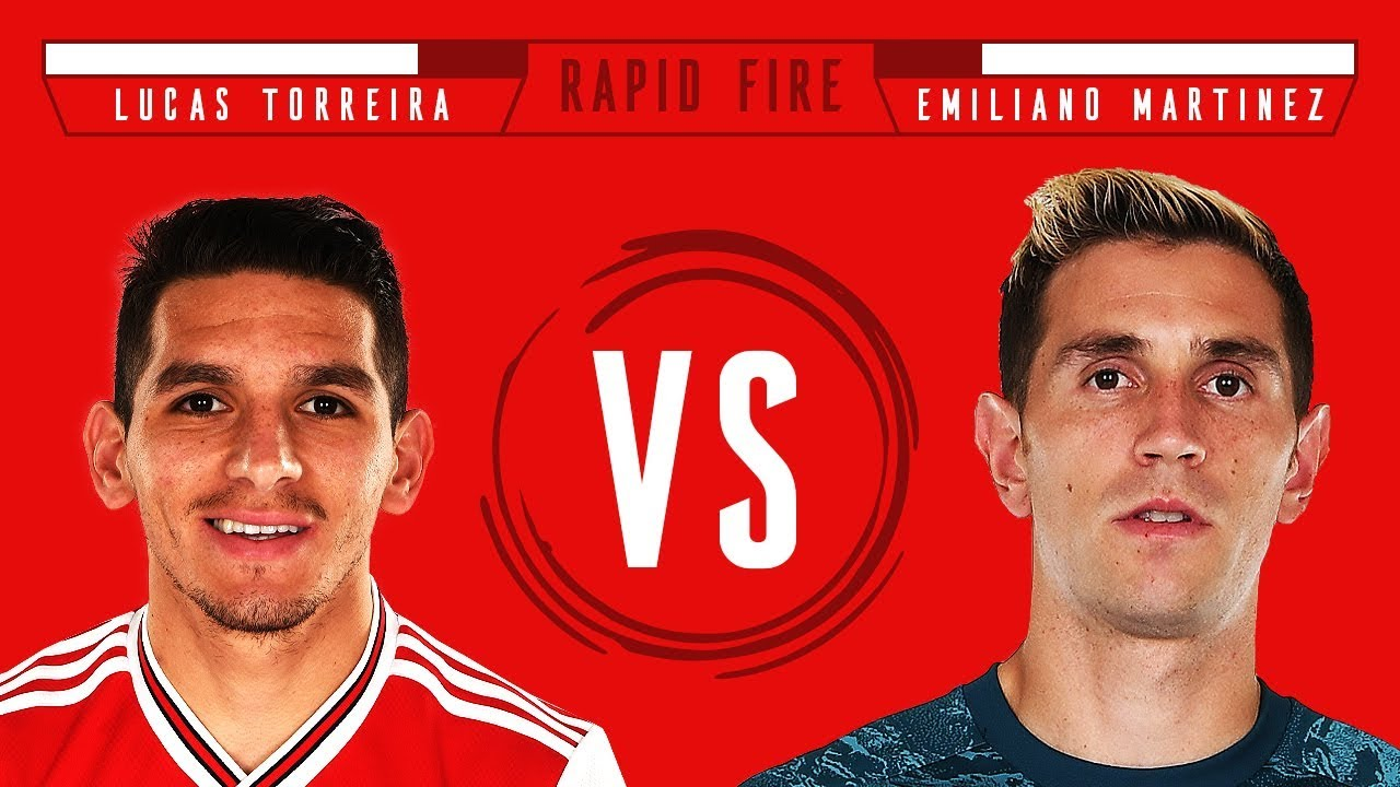 Torreira in goal?! | Lucas Torreira v Emi Martinez | Rapid Fire | Episode 2