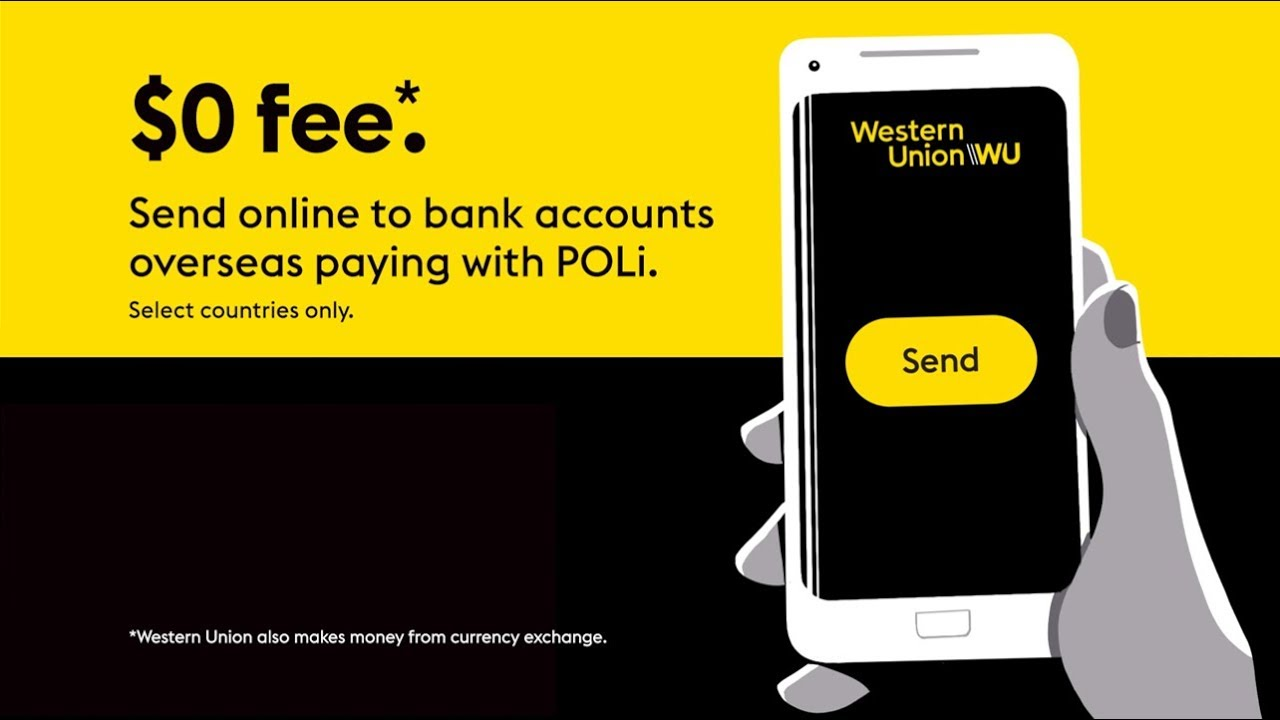 Send money online from app to bank with Western Union