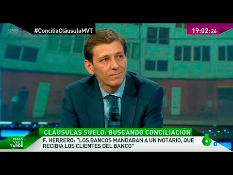 Entrevista de 'Más vale tarde' de La Sexta a ADICAE