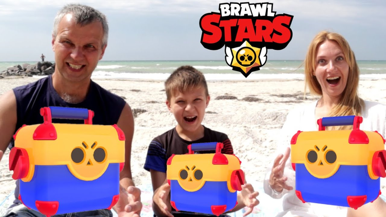 Бравл Старс БИТВА на МОРЕ! Семейный баттл Brawl Stars на ВЕДРО МОРОЖЕНОГО!