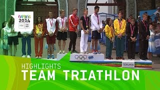 Europe 1 Win Team Triathlon - Highlights   Nanjing 2014 Youth Olympic Games