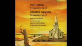 Hanson conducts Hanson - Symphony No. 4: First movement [Part 1/4]