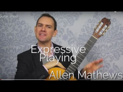 Musical Expression and Phrasing Beautifully on Classical Guitar
