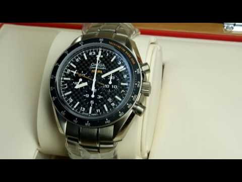 FOR AUCTION Ebay. OMEGA Speedmaster HB-SIA 44mm Black Carbon Fiber Titanium GMT Chronograph