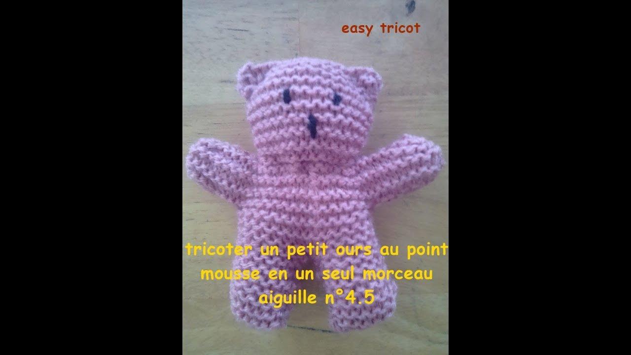 Tricoter Un Petit Ours Facilement Youtube