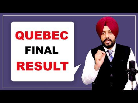 QUEBEC FINAL RESULT  STUDY ABROAD VISA