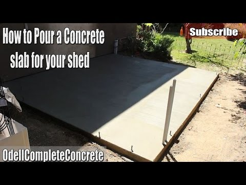 DIY How to pour a Concrete Shed Slab!