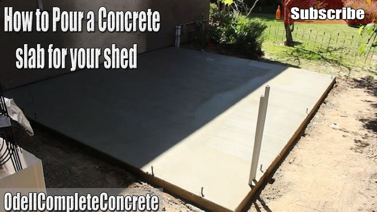 Diy how to pour a concrete shed slab youtube diy how to pour a concrete shed slab solutioingenieria Image collections