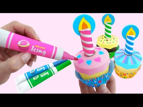 toy-magic-microwave-bake-decorate-wooden-cupcakes-&-surprise-toys-*-rainbowlearning