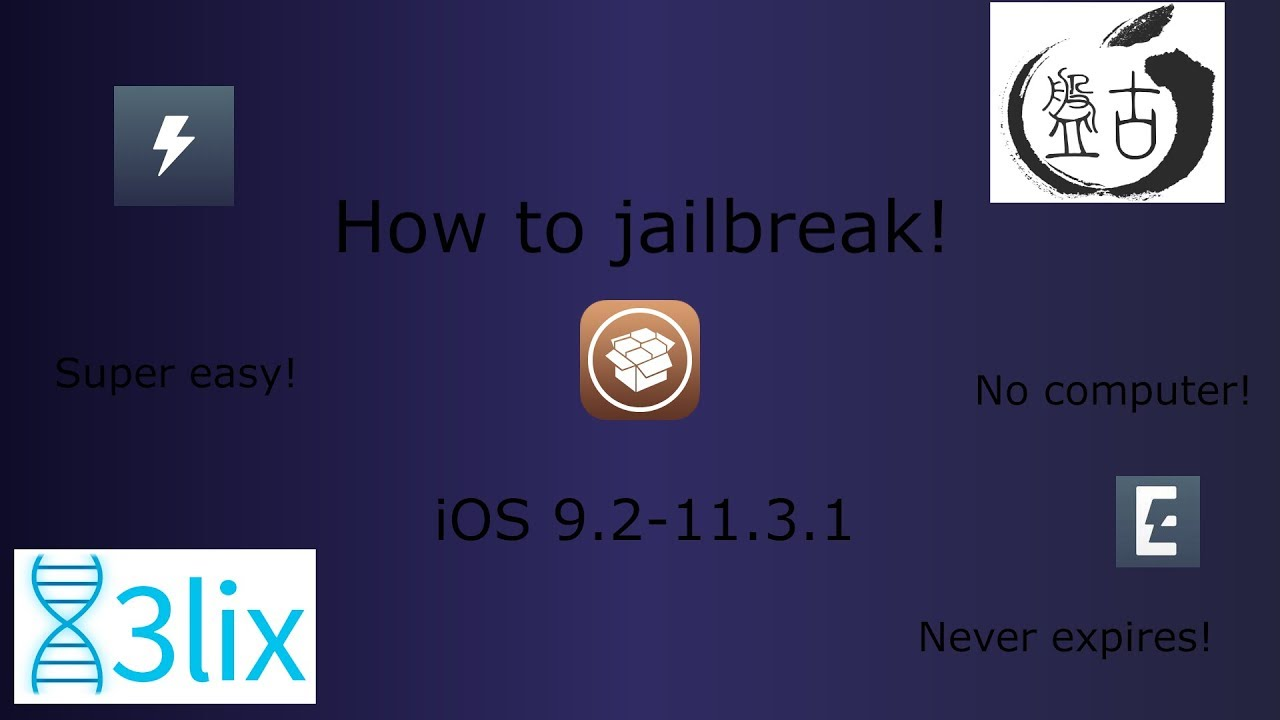 How to jailbreak, iOS 9.2-11.3.1, no computer required - YouTube