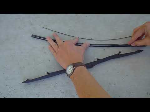 Change rubber blade only of Toyota windshield wiper, use force to un-stuck old blade