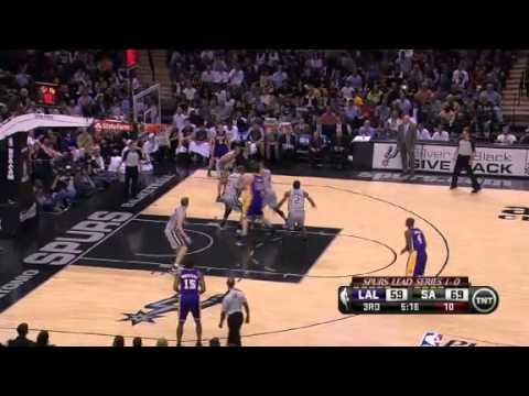NBA Playoffs 2013: NBA LA Lakers Vs San Antonio Spurs Highlights April 24, 2013 Game 2