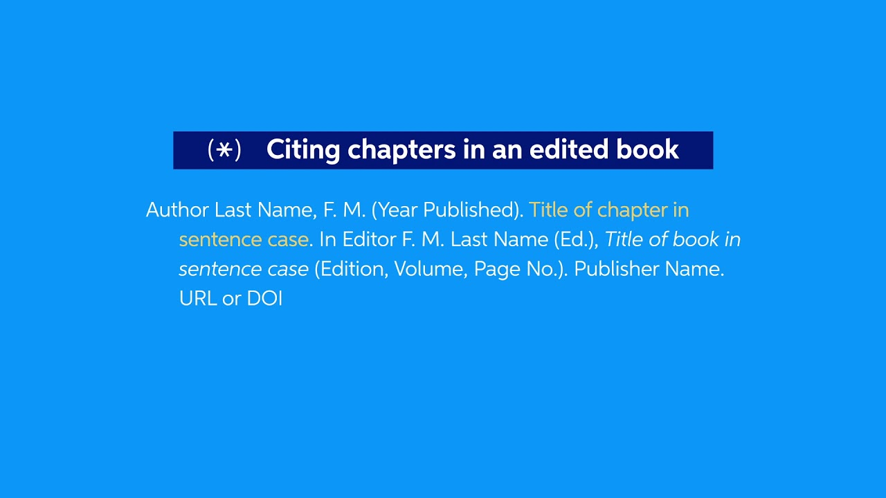 How To Cite A Chapter In Book Apa Easybib Citations Harvard Referencing