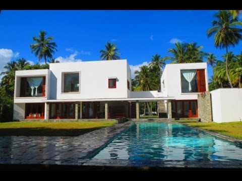 modern beachfront villa for sale in dominican republic modern homes youtube. Black Bedroom Furniture Sets. Home Design Ideas