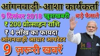 Anganwadi Asha Worker Today 9 December 2018 Latest Salary News Hindi | आंगनवाड़ी आशा सहयोगिनी मानदेय