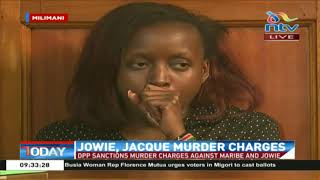 Maribe, her fiancé 'Jowie' face murder charges