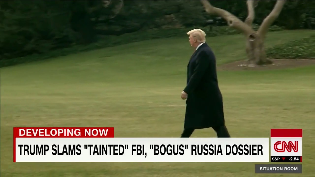 Trump slams Russia dossier as 'bogus'