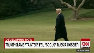 Trump slams Russia dossier as 'bogus'