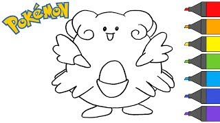 Pokemon Blissey | How to Draw | Pokemon Coloring Book | ARTSY KIDS