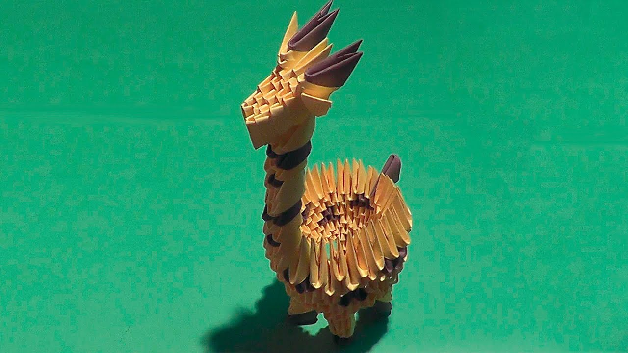 How to make a paper giraffe with his own hands - YouTube - photo#28