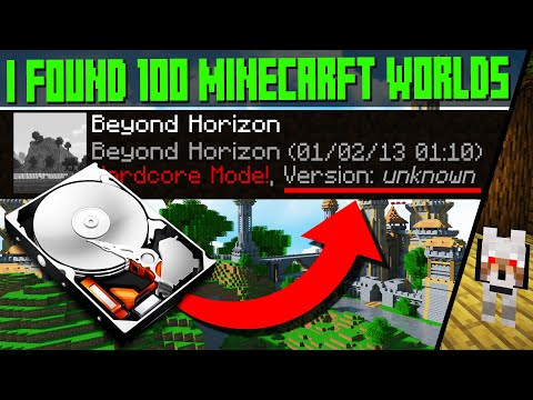 So I Found A LOST Hard Drive With 100 Minecraft Worlds!