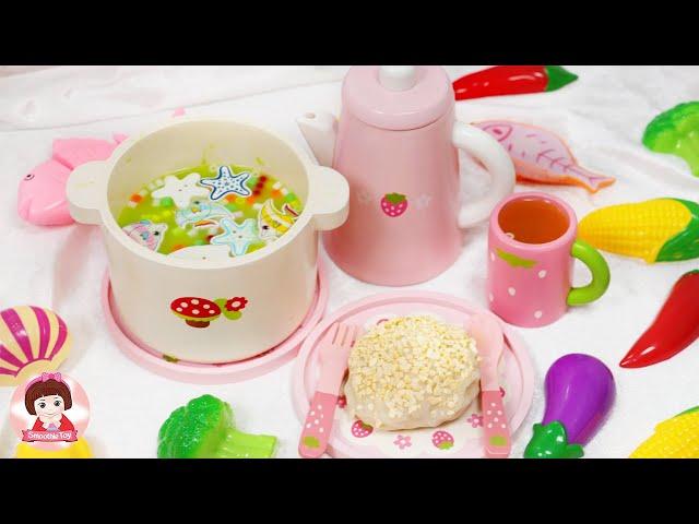 ละครสั้น คุณแม่ทำกับข้าว เมนูแกงเขียวหวาน ของเล่นทำอาหารของเล่นหั่นได้ของเล่นเครื่องครัวSmoothie Toy